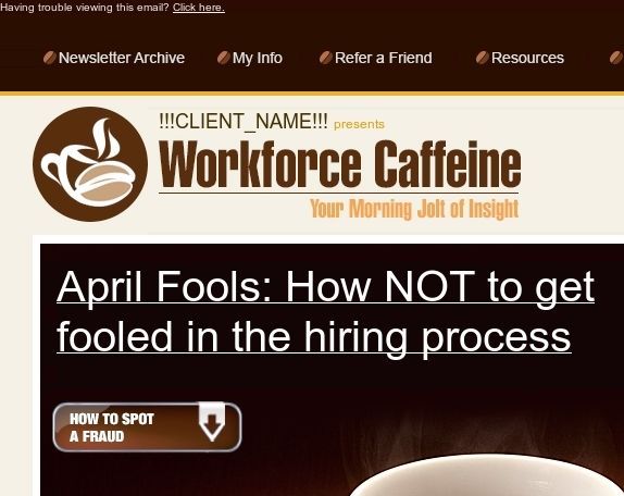 April Fool | Spring Cleaning...at work | Bad Candidates