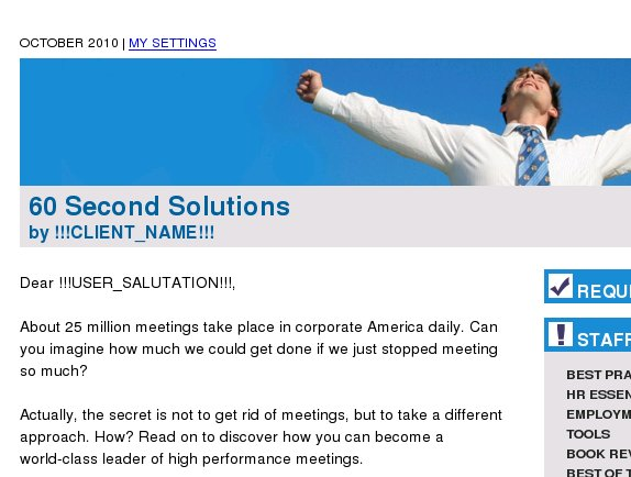60 Second Solutions: Sick of meetings wasting your time?